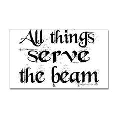 """All things serve the beam"" Rectangle Sticker - The Dark Tower"