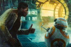 Star Wars: The Force Awakens Thumbs Up Art Print