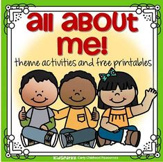 All About Me preschool theme activities and free printables