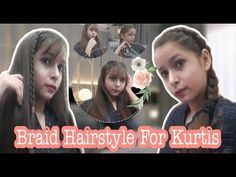 College Hairstyles, Latest Hairstyles, Girl Hairstyles, Braided Hairstyles, H Style, Kurtis, Braids, Makeup Youtube, Told You So