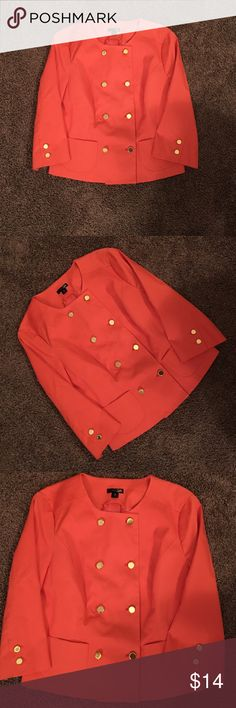 EAST 5th JACKET Only worn once. In mint condition, orange with gold buttons. Cotton and nylon. East 5th Jackets & Coats