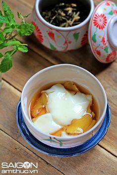 Đậu hũ (tào phớ) nước đường #soybean #brownsugar #ginger #traditional