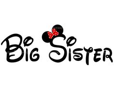 Big Sister DIY PIY Big Brother Printable Little Sister Little Brother Iron Transfer Mickey Minnie Disney. $5.00, via Etsy.