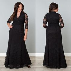 Plus Size Solid Double Slit Long Sleeve Maxi Dress | All Dressed ...