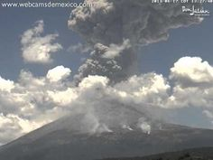 Time-Lapse of an Eruption and Shock Wave at Popocatépetl, Mexico