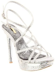 £32.00  Shoehorne Natalie-06 - Womens Silver Dazzling Strappy Slingback High Heeled Platform Evening Bridal Party Sandals w/ Sparkling Diamante Jewels Encrusted heel - Avail in Ladies Size 3-8 UK: Amazon.co.uk: Shoes & Accessories