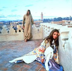 Talitha and Paul Getty in Marrakech, 1969 Photography by Patrick Lichfield