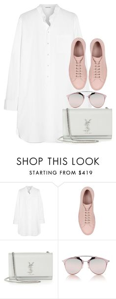 """""""Untitled #2831"""" by elenaday ❤ liked on Polyvore featuring Tomas Maier, Common Projects, Yves Saint Laurent and Christian Dior"""