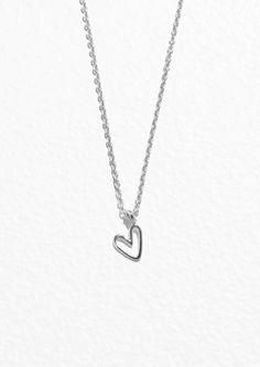 & Other Stories | Sterling Silver Heart Pendant Necklace | Sterling Silver