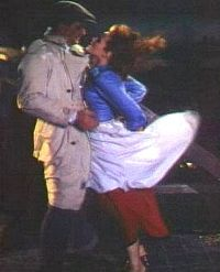 """John Wayne & Maureen O'Hara in """"The Quiet Man"""", the famous scene where she opens the door and he steps in and the wind blows him to her and they passionately embrace. The Quiet Man, Maureen O'hara, Movie Shots, Best Kisses, She Movie, Famous Stars, Faith In Love, I Miss Him, John Wayne"""
