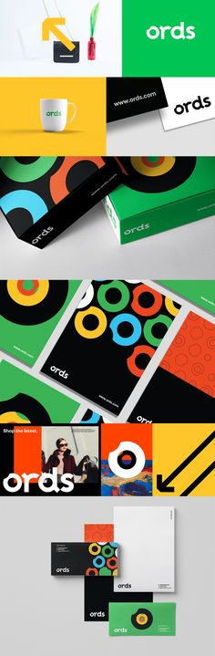 Ords e-commerce logo branding and brand identity - DEBORAH Corporate Identity Design, Brand Identity Design, Visual Identity, Branding Design, Logo Branding, Event Branding, Visual Design, Graphisches Design, Blog Logo