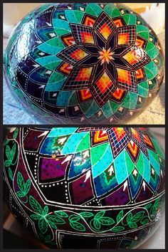 Pysanka, Pysanky Batik Ostrich Egg.  I know its an egg but this would be beautiful as a tattoo