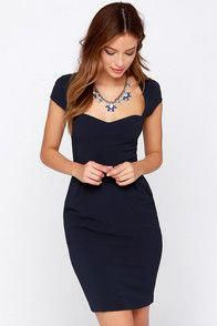 ac820dc79270 LULUS Exclusive Share the Love Navy Blue Dress at Lulus.com!  #partydressescute Woman