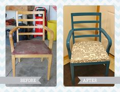 Day 5 of 30. From a chair on the curb to a chair in my craft room! #30DoC