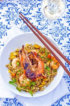 Shrimp Fried Rice via joylicious.net. She uses Shao Xing cooking wine in her shrimp marinade and chicken bouillon in the rice!