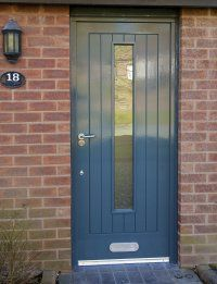 We supply a wide variety of external doors from timber to UPVC, secure, practical, strong and attractive, Contact us for a free quotation 0161 927 4960 Front Door Entrance, Front Doors, Grey Shaker Kitchen, Altrincham, External Doors, Engineered Wood, Types Of Wood, Manchester Lancashire, Tall Cabinet Storage