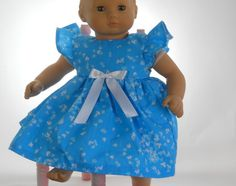 15 inch doll clothes, Turquoise Blue Butterfly Heart Dress, 06-0270 by thesewingshed on Etsy