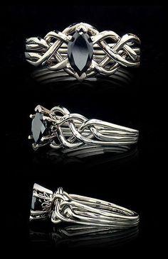 Celtic puzzle ring marquise diamond | black-diamond-engagement-rings-puzzle-rings.jpg