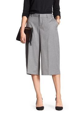 This Gray Culotte will be your go-to pant it's comfortable and stylish and can be worn any Polyester ,Imported, Hook and Bar Closure , Belt Loops; Zip fly, Four pocket styling COLOR : GRAY Mom Outfits, Chic Outfits, Fashion Pants, Fashion Outfits, Square Pants, Looks Chic, Pants For Women, Clothes For Women, Professional Outfits