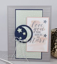 Fun with new colours and papers and stamp sets with the Little Twinkle Suite from Stampin' Up! Baby Girl Cards, Send A Card, Twinkle Twinkle Little Star, Big Shot, Stamp Sets, Halloween Cards, Homemade Cards, Stampin Up Cards, Your Cards