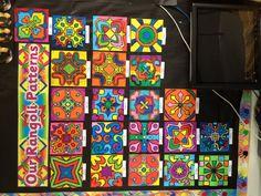 Rangoli patterns for Diwali.