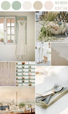 Hey Look - Event styling, design inspiration, DIY ideas and more: BEACH COLOR INSPIRATION: SEA GREEN & DESERT SAND