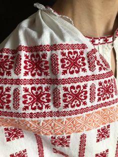 Romania, Cross Stitch, Costumes, Embroidery, Crochet, Tops, Women, Cross Stitch Skull, Dots