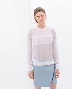 ZARA - WOMAN - TRANSPARENT BLOUSE