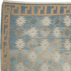 Vintage Dhurrie Rug | From a unique collection of antique and modern indian rugs at https://www.1stdibs.com/furniture/rugs-carpets/indian-rugs/