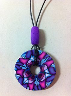 Polymer Clay Washer Necklace