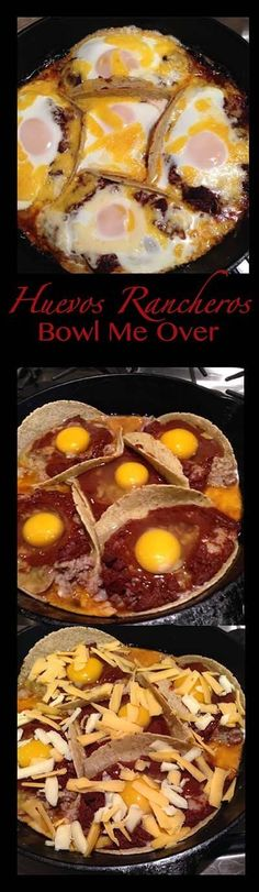 Have you ever wanted to make Huevos Rancheros at home?  Here's a great recipe!  They are super easy for a quick breakfast or brunch. Top with some salsa and a dollop of sour cream and you have a delicious meal!