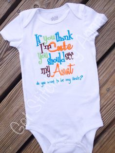 If you think I'm cute you should see my Aunt by GetStitchedByAnna