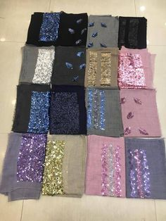 Pretty silk wool stoles to pair ot up with wester or indian wear.wear to office, collegen, party , daily wear. Size 70 x 180 cm Before placing order please convo design to check availability. Modest Fashion, Hijab Fashion, Women's Fashion, Velvet Shawl, Embroidery Suits, Silk Wool, Hijabs, Indian Ethnic, Ethnic Fashion