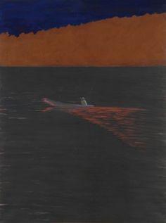 Nocny rybak 2005; tempera żółtkowa, płótno, 160x200 cm fot. dzięki uprzejmości Galerii aTAK