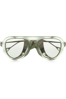 6d6e56e03a74b Gucci - Aviator-style acetate and metal sunglasses. Gafas De SolRostrosClienteCuero  MarrónGafasGucciDulce ...