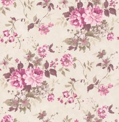 Floral Spruce Mulberry wallpaper by Albany