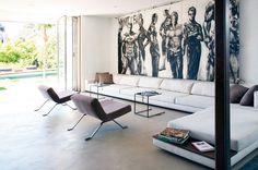 Stunning modern home in the Hollywood Hills, designed by Janna Levenstein