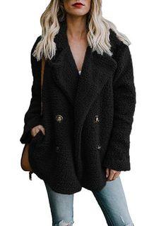 a55bbc98f21f Black Faux Fur Coat Jacket. Black Faux Fur CoatWarm Jackets For WomenCoats  ...