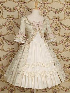 Lace Market is the largest online marketplace for EGL (Elegant Gothic Lolita) Fashion. Sell and buy Lolita dresses, skirts, accessories and more with thousands of users around the world! Vestidos Vintage, Vintage Dresses, Vintage Outfits, Vintage Fashion, Vintage Style, Kawaii Fashion, Lolita Fashion, Rococo Fashion, Dress Fashion
