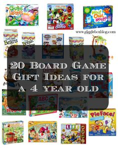 20 Board Game Gift Ideas for a 4 year old - Gigglebox Tells it Like it is - www.giggleboxblog.com