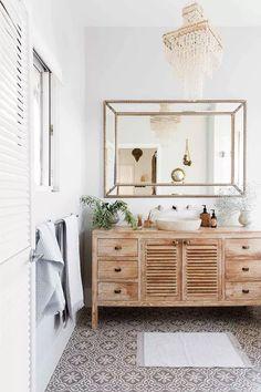 14 of the best ideas for coastal interior decorating Bathroom Renos, Beautiful Bathrooms, Double Vanity, Reno Ideas, Decor, Powder, Coastal, Decoration, Decorating
