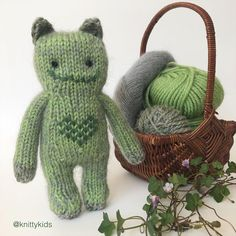 """Gudrun Dahle's Instagram post: """"🥦💚 Imaginary animal who eats lots of green vegetables? I wish you could feel the green fur - the mohair makes it soooo cuddly. 💚🥦  (This…"""""""