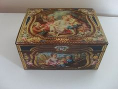 COLLECTORS VINTAGE KEMPS BISCUIT TIN - reproduction of 1760 French snuff box
