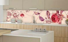 asatische note glasrückwand küche feminine rosa rot Mehr