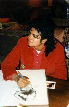Sketching. MJ was a gifted artist. He could do amazing drawings and portraits.