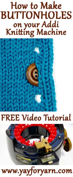 Excellent Totally Free easy knitting machine Thoughts How to Make a Buttonhole . Excellent Totally Free easy knitting machine Thoughts How to Make a Buttonhole in your Knitting on Knitting Blogs, Easy Knitting, Loom Knitting, Knitting Stitches, Knitting Projects, Knitting Ideas, Finger Knitting, Knitting Tutorials, Addi Knitting Machine