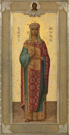 The Holy Alexandra, Martyr. Religious Images, Religious Icons, Religious Art, Russian Icons, Russian Art, Paint Icon, Religious Paintings, Christian Religions, Biblical Art