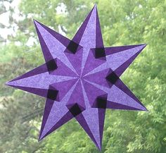 7 Острый Фиолетовый Окно Star по harvestmoonbyhand на Etsy