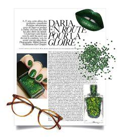 """Nail Art green winter"" by teh-giraffe ❤ liked on Polyvore featuring beauty, Illamasqua, Ace and LASplash"