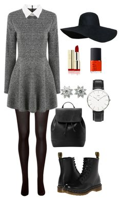 """Cute fall"" by kajsa15 on Polyvore featuring SPANX, Dr. Martens, MANGO, NARS Cosmetics, Daniel Wellington and Tiffany & Co."
